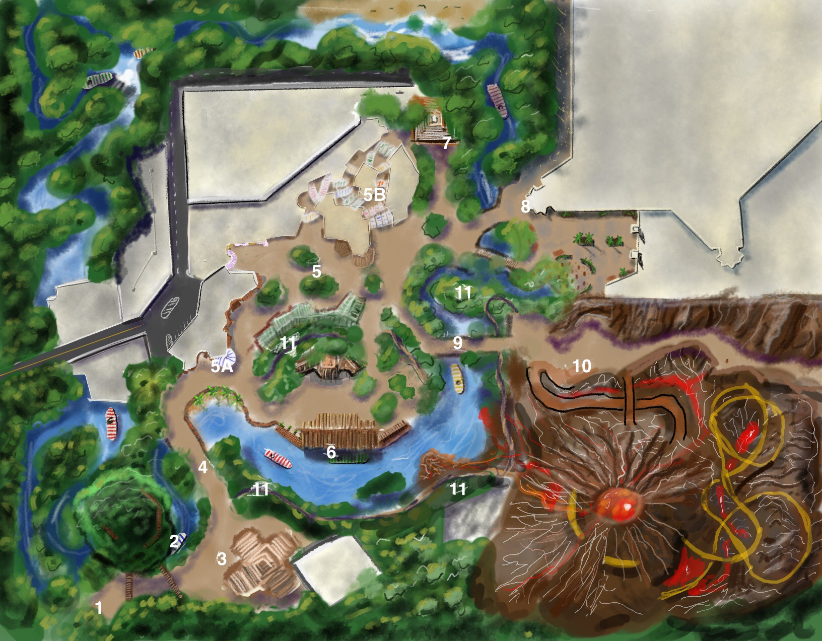 Adventureland Tour Map