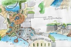 Seaworld Entrance plan