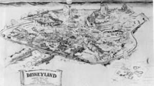 Disneyland aerial view drawing